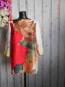 Šaty - Kvetované retro r. 60-te... - 7799762_