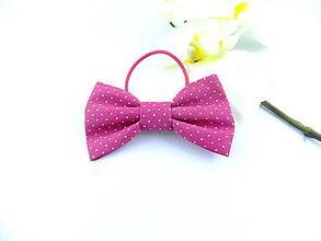 Ozdoby do vlasov - Mašlička do vlasov na gumičke ružová - 7799351_