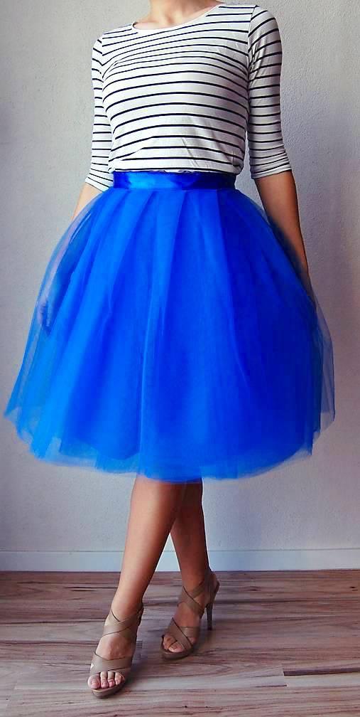Tylová sukňa modrá   TinyThea - SAShE.sk - Handmade Sukne 81c3ba15a7