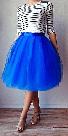 Sukne - Tylová sukňa modrá - 7801747_