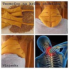Úžitkový textil - Hrejivý NÁKRČNÍK na krčnú chrbticu z obilia TERMOFOR - 7800797_
