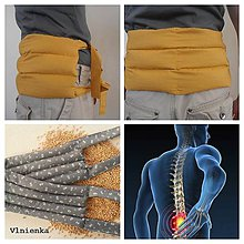 Úžitkový textil - Hrejivý vankúšik do mikrovlnky na bolesť chrbtice a krížov - 7801349_
