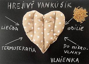 Úžitkový textil - TERMOFOR Hrejivý vankúšik z obilia do mikrovlnky Hviezdička - 7801868_