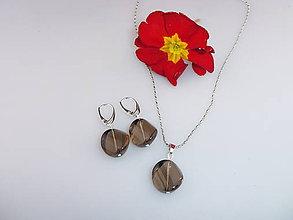 Sady šperkov - záhneda náušnice prívesok - 7798196_