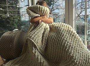 Úžitkový textil - Deka ,, Chunky ,, - 7798565_