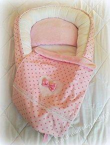 Textil - Set pre bábätko( hniezdo + deka 70X50 cm) - 7799067_