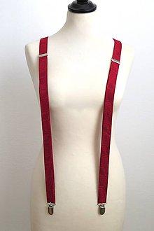 Doplnky - červené traky s jemným vzorom - 7800906_