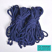 Nezaradené - Jutový provaz 7 mm Midnight blue – 6 ks pro bondage - 7798765_