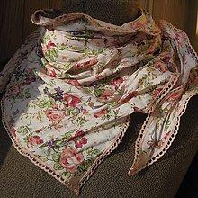 Šatky - Jane Austen ružička - 7800038_
