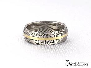 Prstene - Prsten Hymén se zlatým proužkem - 7801457_