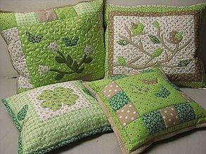 Úžitkový textil - zelené vankúše - 7797869_