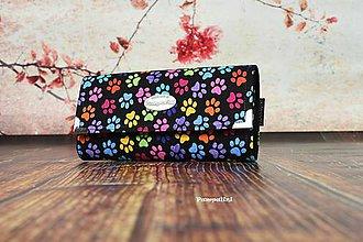 Peňaženky - Barevné pacičky - 7799934_