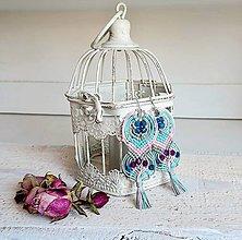 Náušnice - Nežné pastelové modro ružové náušnice :) - 7798468_
