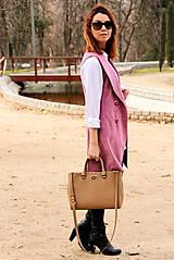 Iné oblečenie - Ružová vesta - 7800110_
