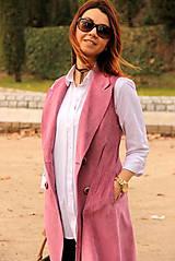 Iné oblečenie - Ružová vesta - 7800111_