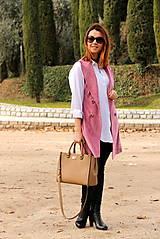 Iné oblečenie - Ružová vesta - 7800112_