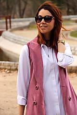 Iné oblečenie - Ružová vesta - 7800113_