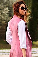 Iné oblečenie - Ružová vesta - 7800115_