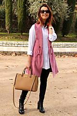 Iné oblečenie - Ružová vesta - 7800141_