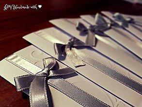 """Papiernictvo - Svadobné oznámenia - """"Ornamenty"""" so saténovou stuhou podľa výberu (bez pozvania k svadobnému stolu) - 7800362_"""