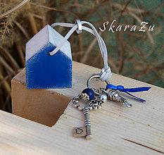 Kľúčenky - Domček na tašku alebo kľúče - 7799320_