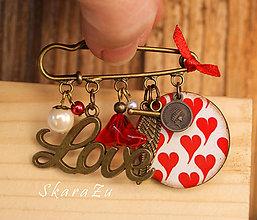 Odznaky/Brošne - Ľúbim ťa - 7799499_