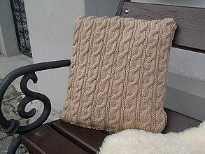 Úžitkový textil - pletený vankúš - nežmolkuje sa - 7798360_