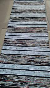 Úžitkový textil - Koberec Hnedý so svetlejšími pásmi 170x73cm - 7799482_