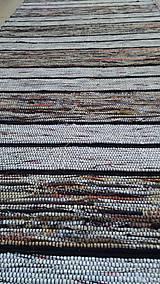 Úžitkový textil - Koberec Hnedý so svetlejšími pásmi 170x73cm - 7799484_