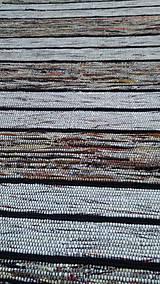 Úžitkový textil - Koberec Hnedý so svetlejšími pásmi 170x73cm - 7799485_