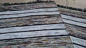 Úžitkový textil - Koberec Hnedý so svetlejšími pásmi 170x73cm - 7799486_