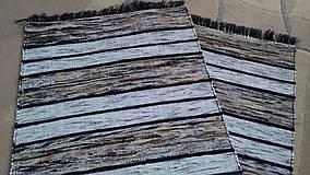 Úžitkový textil - Koberec Hnedý so svetlejšími pásmi 170x73cm - 7799487_