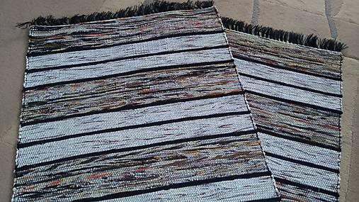 Koberec Hnedý so svetlejšími pásmi 170x73cm