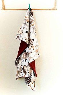 Textil - _BUVI... SoViČKy... v bordó... deka pre najmenších ♥ - 7803007_