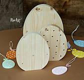 Dekorácie - Veľkonočné vajíčka NATUR - 7806126_