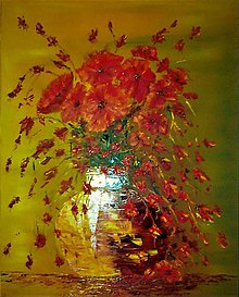 Obrazy - Kytica divých makov - 7803221_