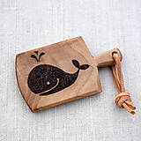Kľúčenky - Kľúčenka z orechového dreva - veľryba - 7803151_
