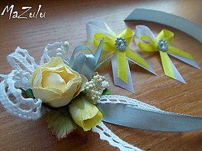 Pierka - svadobné pierka Vintage/súprava/ - 7804985_