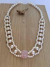 Náhrdelníky - perlový svadobný náhrdelník - 7805798_