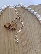 Náhrdelníky - perlový svadobný náhrdelník - 7805799_