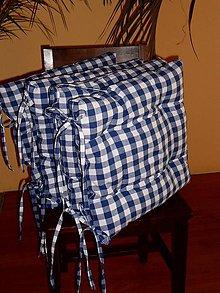 Úžitkový textil - PODSEDÁKY modrá kostka - 7806752_