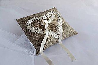 Prstene - Svadobný vankúšik ♥ - 7802386_