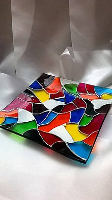 Svietidlá a sviečky - Sklenený svietnik Mozaika - 7805659_