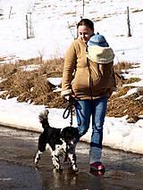 Mikiny - Béžová nosiaca mikina - 7802606_