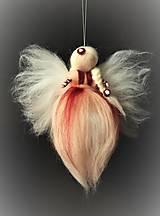 Dekorácie - Plstená anjelička - 7805413_