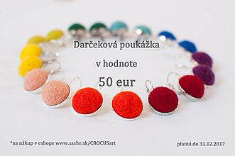 Darčekové poukážky - Darčeková poukážka 50 € - 7804592_