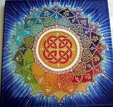Obrazy - Mandala šťastia, úspechu a energie - 7805987_