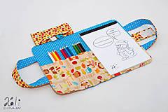 Detské tašky - Detský kufrík - pastelkovník Happy Harvest modrý - 7806403_
