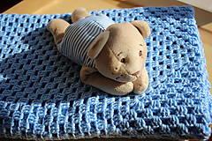 Úžitkový textil - Háčkovaná deka pro chlapečka- modrá - 7802510_