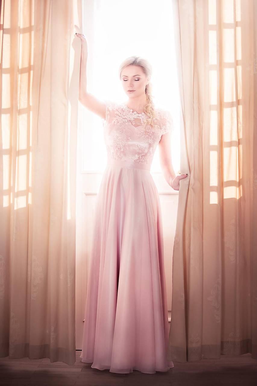 ... Šaty - Spoločenské šaty s kruhovou sukňou v púdrovej ružovej farbe -  7805113  ... c78d4b6ebec
